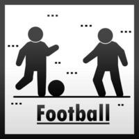 pessoas jogando futebol vetor