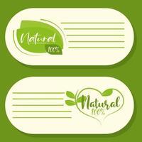 produtos naturais orgânicos vetor