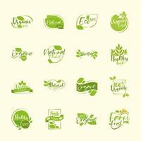 alimentos produtos orgânicos vetor