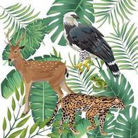 grupo de animais selvagens e exóticos vetor
