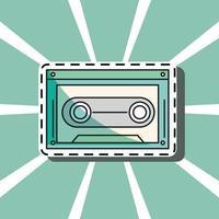 patch de música cassete vetor