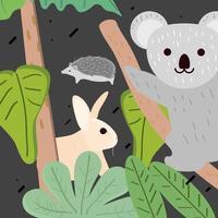 animais selva tropical vetor