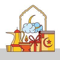festival eid mubarak vetor
