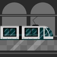 metrô estação ferroviária transporte público vetor