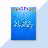 Design de modelo de folheto abstrato feliz aniversário vetor