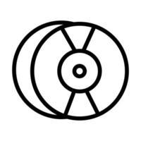 ícone de estilo de linha de som de disco compacto de áudio vetor