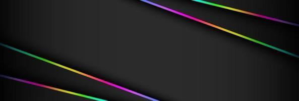 ilustração em vetor abstrato futurista dark and rgb light game background