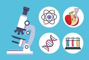 cinco itens de teste genético vetor