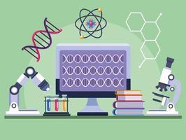 laboratório de testes genéticos vetor