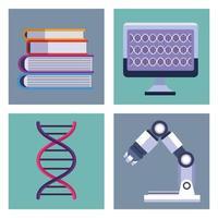 teste genético de quatro itens vetor