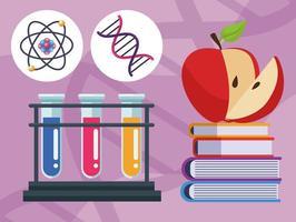 teste genético com livros vetor