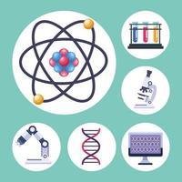 seis itens de teste genético vetor