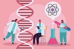 teste genético com DNA vetor