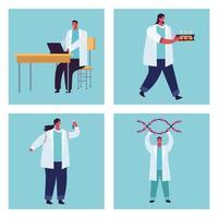 quatro equipes de testes genéticos vetor
