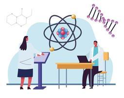teste genético com átomo vetor