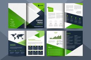 Modelo de folheto de negócios corporativos de 8 páginas vetor