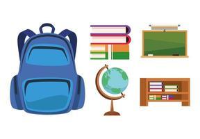 ícones de mobília de sala de aula vetor