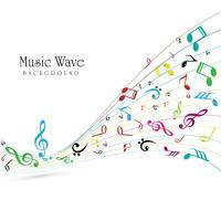 Vetor de fundo abstrato onda colorida de música