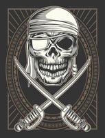 espadas e pirata vetor