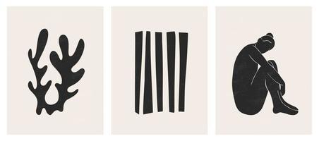 conjunto moderno e contemporâneo de designs geométricos abstratos e minimalistas vetor