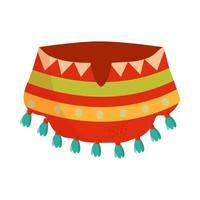 roupa tradicional cinco de mayo poncho vetor