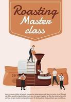 torrefação modelo de vetor plano cartaz master class