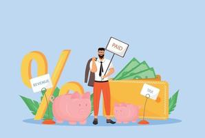 ilustração em vetor conceito plano de folha de pagamento