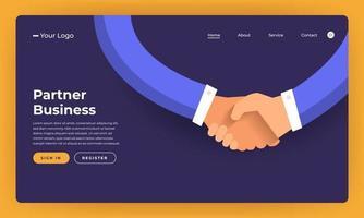 mock-up design site conceito design plano negócio parceiro. ilustração vetorial. vetor
