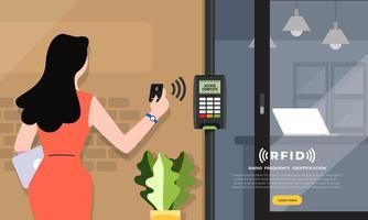 cartão de boas-vindas de acesso RFID vetor
