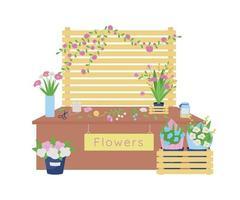 oficina de floricultura vetor 2d banner web, pôster