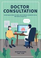 modelo de vetor plano de consulta ao médico no hospital