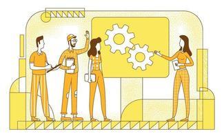 apresentação do projeto ilustração em vetor silhueta plana
