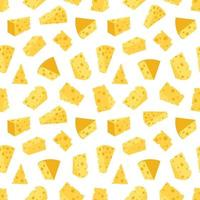 padrão sem emenda de queijo. ilustração vetorial plana vetor