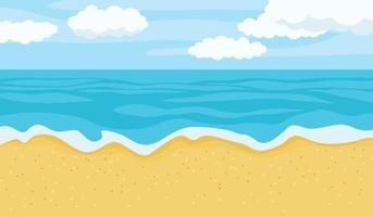 paisagem de praia de verão vetor