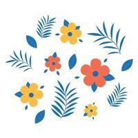 conjunto de ilustração floral vetor