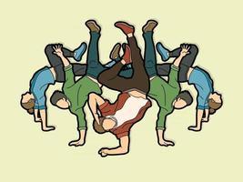 grupo de pessoas dançando vetor