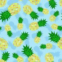 padrão de abacaxi sem costura vetor