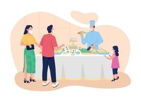 banner da web de vetor de restaurante estilo buffet