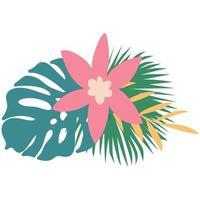 folhas tropicais de verão vetor