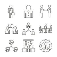conjunto de ícones de avatares de executivos vetor