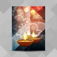 Modelo de design de folheto feliz Diwali feliz vetor