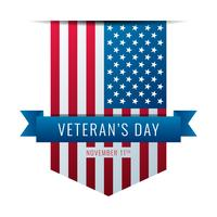 Dia dos Veteranos das fitas da bandeira americana vetor