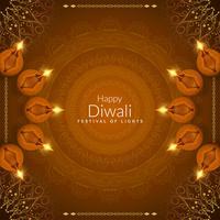 Resumo feliz Diwali fundo religioso bonito
