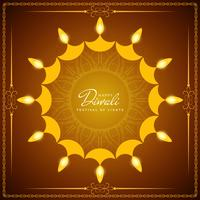Resumo bonito feliz Diwali festival saudação fundo