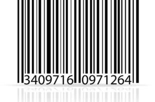 ilustração em vetor de estoque de código de barras isolada no fundo branco