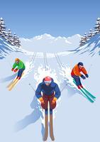 Esquiador Extreme Sports vetor