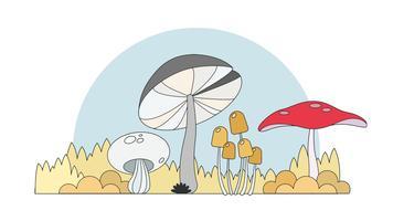 Vetor de cogumelos