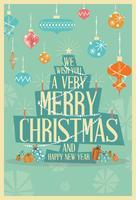 Resumo feliz Natal saudação cartão Mid Century Mod Natal vetor