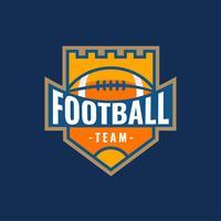 Logotipo de futebol americano castelo vetor