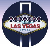 Bem-vindo ao fabuloso sinal de Las Vegas Nevada vetor
